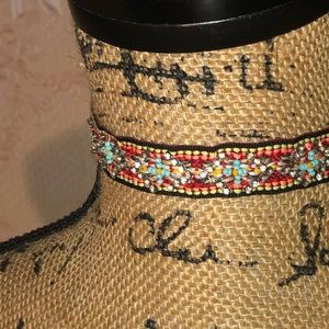 Francesca's Tribal Beaded Festival Choker